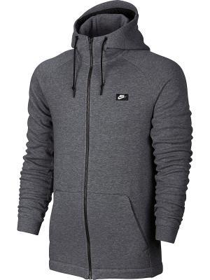 Толстовка M NSW MODERN HOODIE FZ BB Nike. Цвет: серый