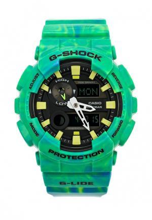 Часы Casio. Цвет: зеленый