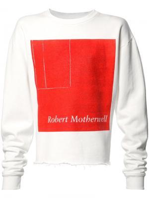 Толстовка Robert Motherwell Enfants Riches Deprimes. Цвет: белый