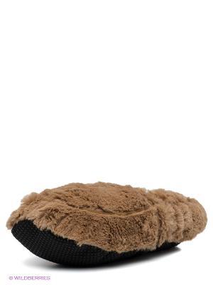 Тапки-грелки Cozy Heads. Цвет: коричневый