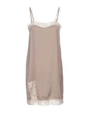 Короткое платье KONTATTO. Цвет: серый