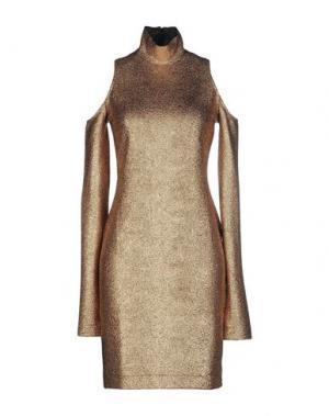 Короткое платье NINEMINUTES. Цвет: медный