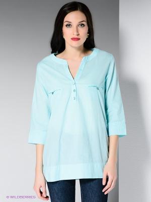 Блузка DRS Deerose. Цвет: светло-зеленый