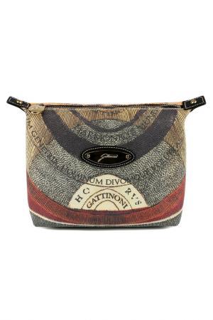 Cosmetics bag Gattinoni. Цвет: black, beige, red
