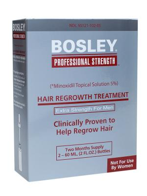 Усилитель роста волос для мужчин Bosley. Цвет: серебристый