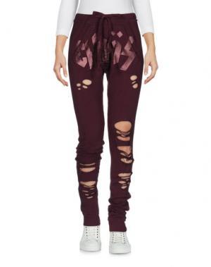 Повседневные брюки HAPPINESS. Цвет: баклажанный