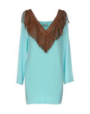Короткое платье ELLA LUNA. Цвет: небесно-голубой