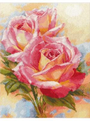Набор для вышивания Розовые мечты 28х36 см , Алиса. Цвет: белый, зеленый, розовый