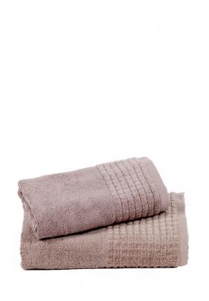 Комплект полотенец 2 шт. Bellehome. Цвет: коричневый