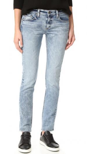 Узкие джинсы-бойфренды Dre Rag & Bone/JEAN. Цвет: кислотный голубой