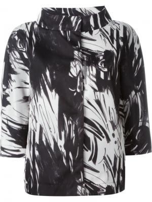 Куртка с абстрактным принтом Herno. Цвет: чёрный