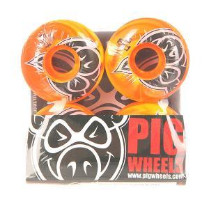 Колеса для скейтборда  Head Swirls New Orange 100A 53 mm Pig. Цвет: оранжевый