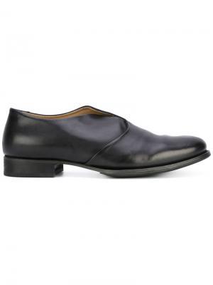 Crossed detail slippers Yohji Yamamoto. Цвет: чёрный