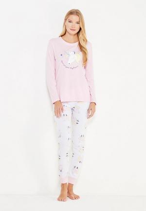 Пижама Loungeable. Цвет: розовый