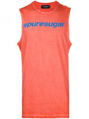 Slogan print vest top Dsquared2. Цвет: розовый и фиолетовый
