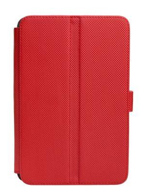 Чехол-книжка Norton универсальный 7 (199х122 мм) с уголками (красный карбон) Norton.. Цвет: красный