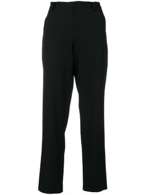 Укороченные узкие брюки Yohji Yamamoto. Цвет: чёрный