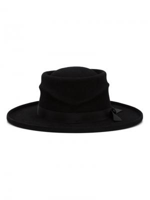 Фетровая шляпа Cancer Gladys Tamez Millinery. Цвет: чёрный