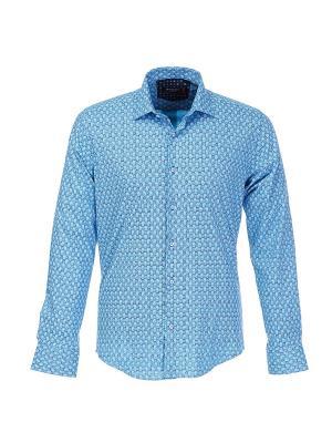 Рубашка BAWER. Цвет: бирюзовый