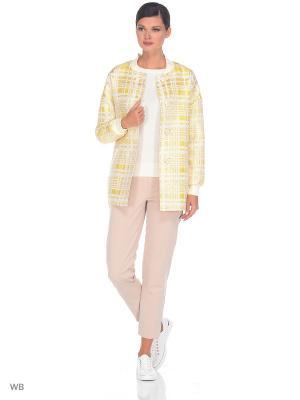 Куртка Exalta. Цвет: светло-желтый, белый, золотистый