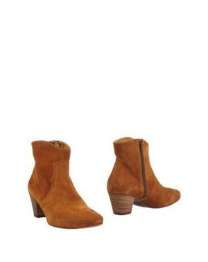 Полусапоги и высокие ботинки STRATEGIA. Цвет: верблюжий