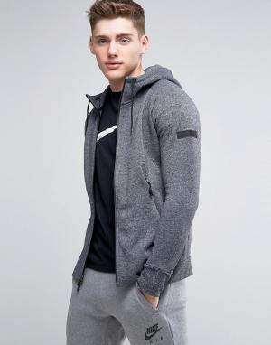 Jordan Черное худи на молнии Nike Icon 809470-010. Цвет: черный