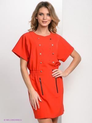 Платье Bize. Цвет: коралловый