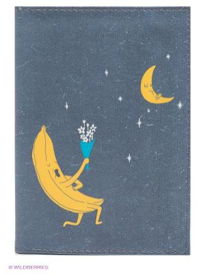 Обложка для автодокументов Влюблённый банан Mitya Veselkov. Цвет: серо-голубой