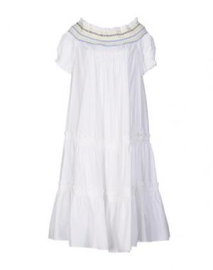 Платье до колена PETER PILOTTO. Цвет: белый