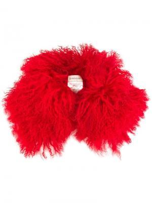 Текстурированный воротник из шерсти ягненка Moncler. Цвет: красный