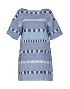 Короткое платье INTROPIA. Цвет: небесно-голубой