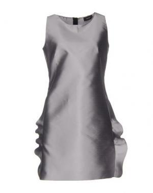 Короткое платье MALAICA. Цвет: серый