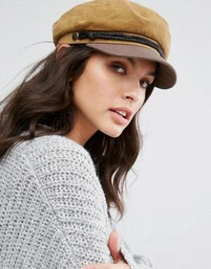 Brixton Светло-коричневая кепка. Цвет: рыжий