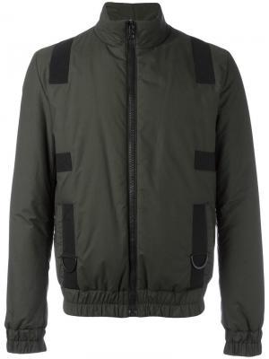 Куртка-ветровка на молнии Letasca. Цвет: зелёный