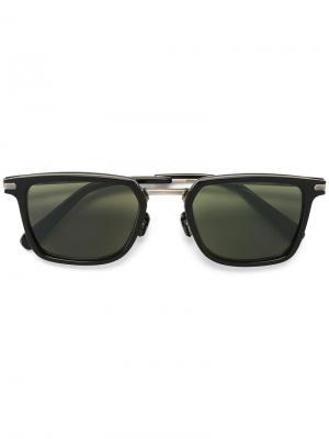 Солнцезащитные очки с квадратной оправой Brioni. Цвет: чёрный