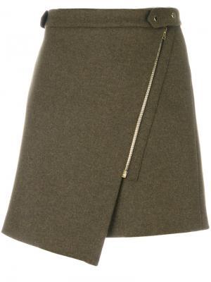 Асимметричная мини-юбка Vanessa Bruno. Цвет: коричневый