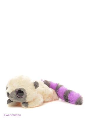 Юху и друзья Игрушка мягкая фиолетовый лежачий 16 см AURORA. Цвет: молочный, фиолетовый