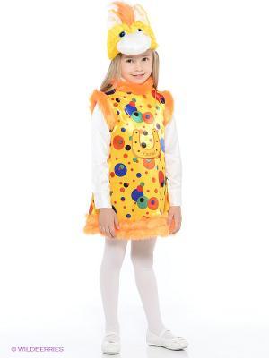 Карнавальный костюм Лошадка Радужка Батик. Цвет: желтый
