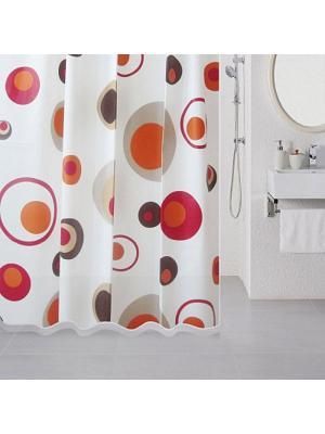 Штора для ванной Milardo. Цвет: белый