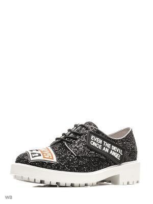 Ботинки JUST COUTURE. Цвет: черный, белый