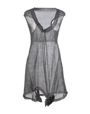 Короткое платье APPARTAMENTO 50. Цвет: свинцово-серый