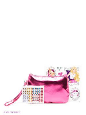 Набор Мозаика-клатч Барби Barbie. Цвет: фуксия