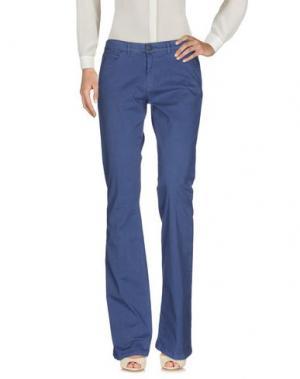 Повседневные брюки 40WEFT. Цвет: грифельно-синий