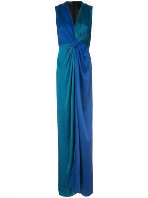 Платье с драпировкой Paule Ka. Цвет: синий