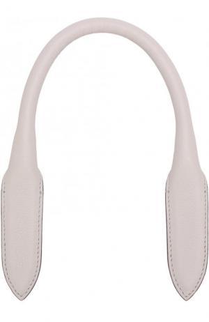 Кожаная ручка для сумки Anya Hindmarch. Цвет: серый