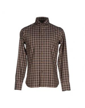 Pубашка NO BRAND. Цвет: темно-коричневый