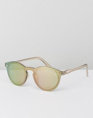 Black Phoenix Зеркальные солнцезащитные очки. Цвет: золотой