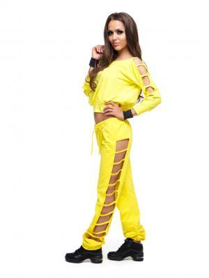 Кофточка DZETA. Цвет: желтый