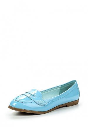Лоферы Topway. Цвет: голубой