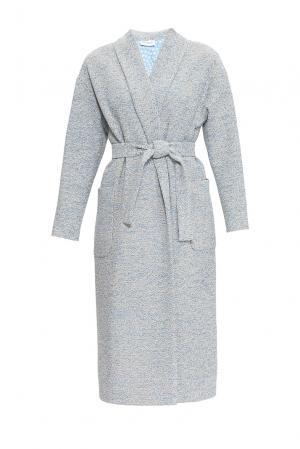 Пальто с поясом 163470 Private Sun. Цвет: серый